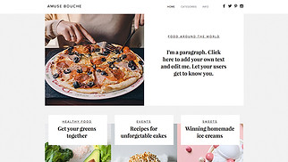 Restaurants & Food website templates - Food Blog