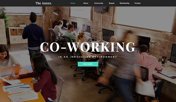 Tutte template – Coworking
