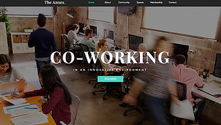 All website templates - Coworking Space