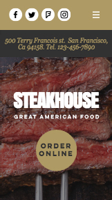 Restaurace website templates – Steakhouse