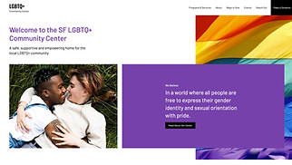Events website templates - LGBTQ Community Center