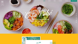 Restaurants & Food website templates - Poke Delivery