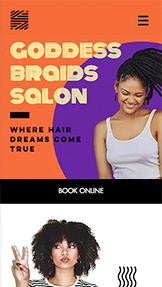 ヘアー website templates – Hair Braids Salon