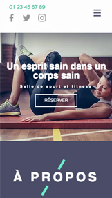 Sport et fitness website templates – Centre Fitness