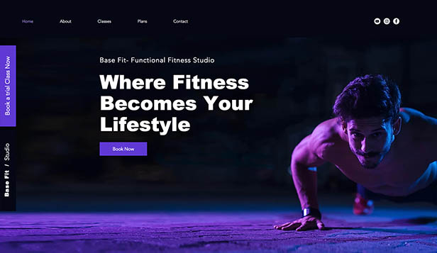 खेल और फिटनेस website templates – Functional Studio