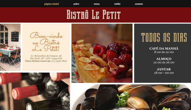 Restaurante website templates – Culinária Francesa