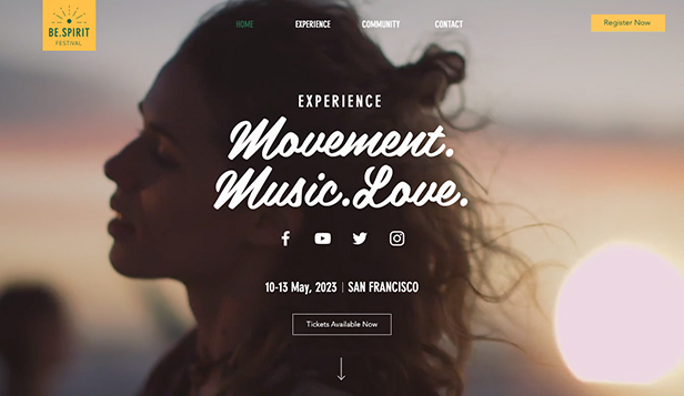 Musikk website templates – Spiritfestival