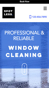 Services & Maintenance website templates – Window Cleaners