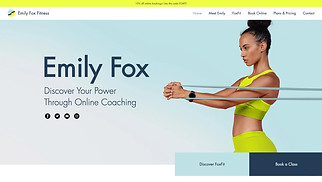 Health & Wellness website templates - Fitness Trainer