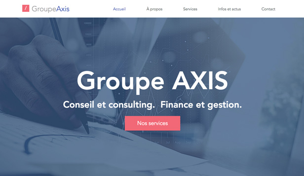 Droit et Finance website templates – Cabinet finance et conseil
