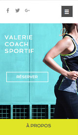 Sport et fitness website templates – Coach personnel