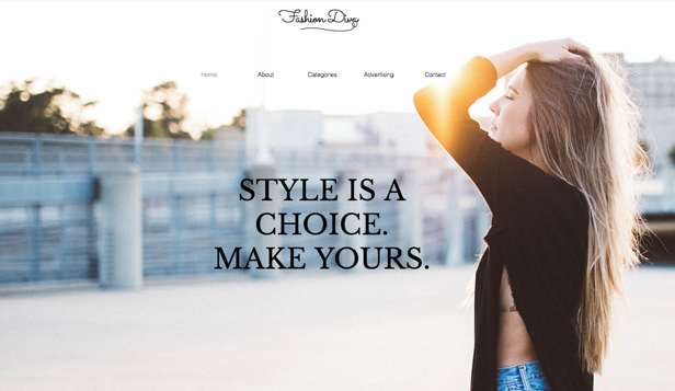 Moda i uroda website templates – Blog modowy