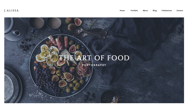 Restaurant og mat website templates – Matfotograf