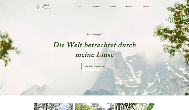 Reise & Dokumentation website templates – Reisefotograf