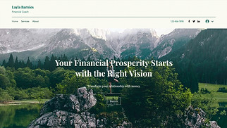 Finance & Law website templates - Financial Coach