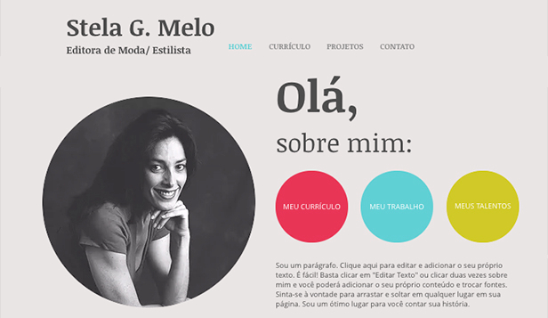 Mais Usados website templates –  Currículo