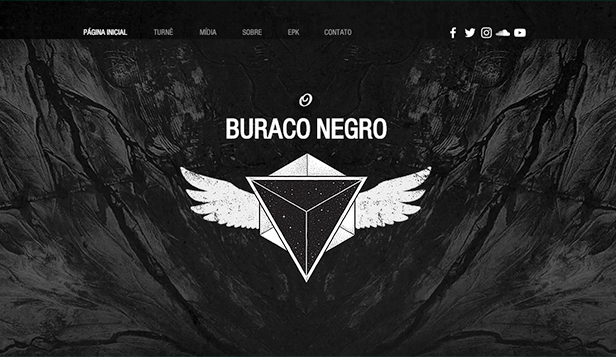 Banda website templates – Música rock