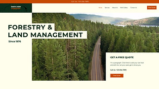 NEW! website templates - Forestry Services