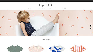 Online Store website templates - Kids Apparel