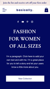 Mode en stijl website templates – Plus Size Fashion