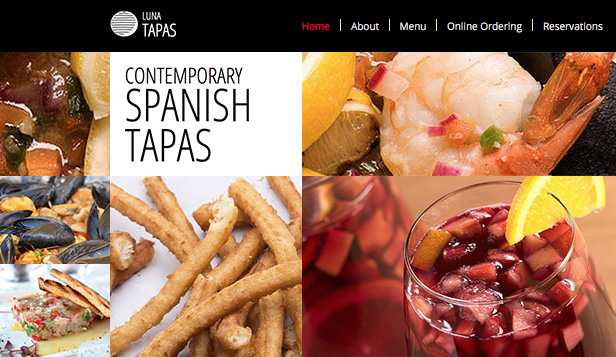 Restaurant og mat website templates – Tapasrestaurant