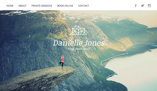 Wellness website templates – Instruktor jógy