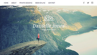 Health & Wellness website templates - Yoga Instructor