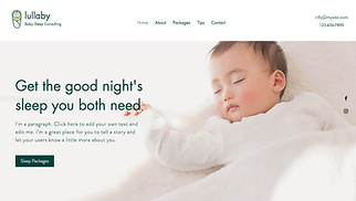 Health website templates - Baby Sleep Consultant