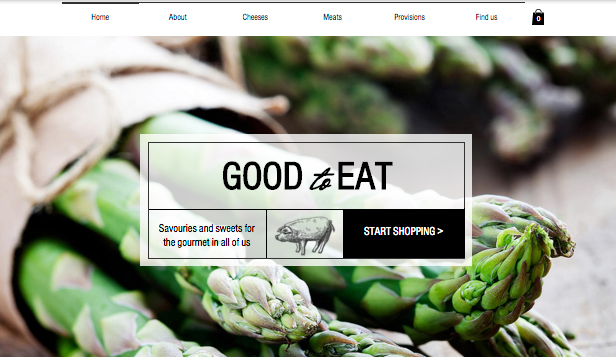 Restaurant og mat website templates – Gourmetbutikk