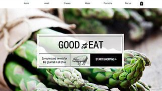 Online Store website templates - Gourmet Food Shop