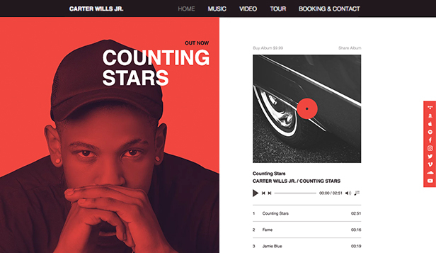 DJ & producent website templates – Rap artist