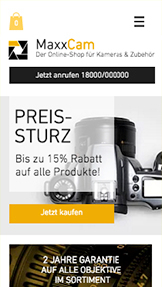 Elektronik website templates – Kamera-Shop