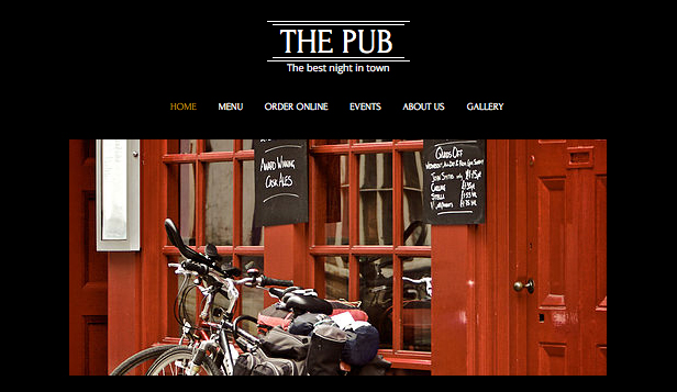 Bars en clubs website templates – Bar en café