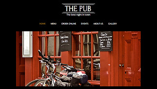 Restaurants & Food website templates - Pub and Bar