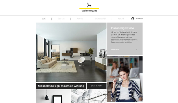 Design website templates – Innenarchitektur-Büro