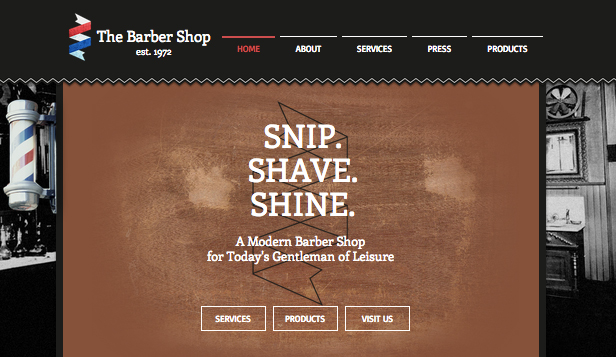 Schoonheid en kapsels website templates – De barbier