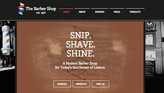 Hair website templates - The Barber