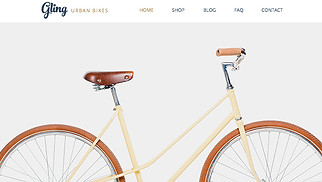 Sports & Outdoors website templates - Bicycle Store