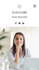 Services & Maintenance website templates – Home Organizer