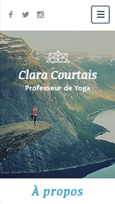 Sport et fitness website templates – Professeur de Yoga