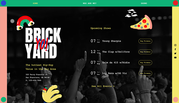 Dj a producent website templates – Hip Hop aréna