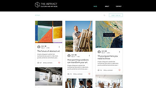 Creative Arts website templates - Art & Culture Blog & Podcast