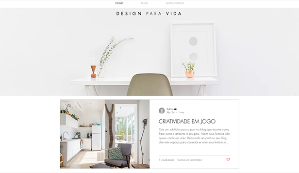 Moda e Beleza website templates – Blog e Podcast sobre Estilo e Design