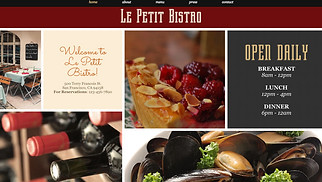 Restaurants & Food website templates - French Cuisine