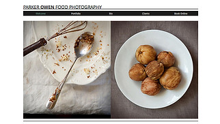 Photography website templates - Food Photography