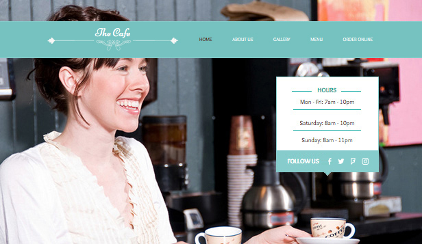 Restaurant og mat website templates – Min café