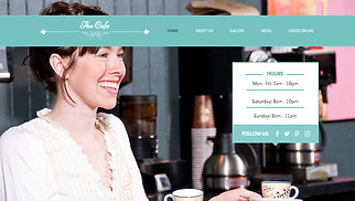 Restaurants & Food website templates - My Cafe
