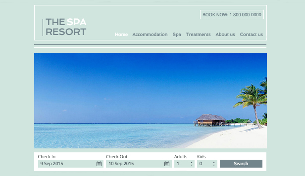 Hotele i B&B website templates –  Resort Spa