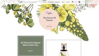 Beauty & Wellness website templates - Cosmetic Oils