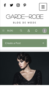 Mode website templates – Blog Mode